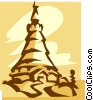 European building Vector Clipart picture