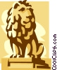 statue of a lion Vector Clip Art image