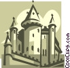 Vector Clipart graphic  of a castle