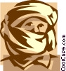 Vector Clipart image  of a middle eastern man