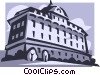 Vector Clip Art image  of a building