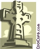 Vector Clip Art graphic  of a statue
