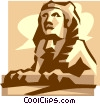 Vector Clipart illustration  of a sphinx