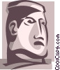 Vector Clipart picture  of a statue