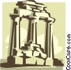 ancient structure Vector Clipart picture