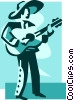 Spanish guitar player Vector Clip Art picture