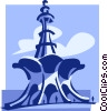 Vector Clipart graphic  of a building in Pakistan