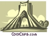 Vector Clipart image  of a building in Iran