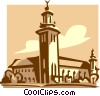Vector Clip Art image  of a City Hall