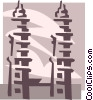 Vector Clipart picture  of a temple