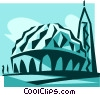 Two Niles Mosque, Egypt Vector Clipart illustration