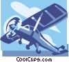 single engine plane Vector Clip Art image