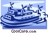 Vector Clip Art image  of a hovercraft