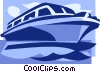sightseeing boat Vector Clip Art picture
