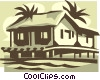 rural home Vector Clip Art graphic