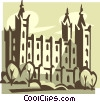 Mormon Temple, Utah Vector Clipart illustration