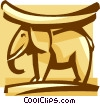 Vector Clipart picture  of a elephant