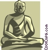 Vector Clipart illustration  of a statue