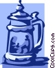 Vector Clip Art picture  of a beer stein