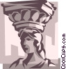 Vector Clipart graphic  of a Roman column  Forum of
