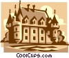 Vector Clipart illustration  of a castle