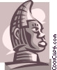 Vector Clipart illustration  of a tribal statue