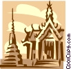 Asian building Vector Clip Art image