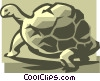 Vector Clip Art graphic  of a turtle