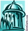 Bahai World Center, Israel Vector Clipart illustration