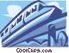Vector Clip Art graphic  of a monorail