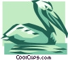 Vector Clip Art graphic  of a pelican