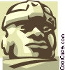 statue Vector Clip Art graphic