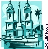 Vector Clip Art image  of a Spanish Steps