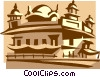 Vector Clipart image  of a Golden Temple