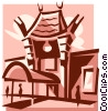 Mann's Chinese Theatre, LA Vector Clipart picture