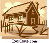 Vector Clip Art image  of a country home