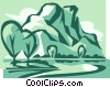 Vector Clip Art image  of a mountains