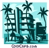 Vector Clip Art graphic  of a beach resort