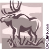 Vector Clip Art picture  of a moose