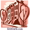 apartment buildings Vector Clip Art picture