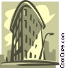New York city building Vector Clipart illustration