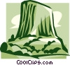Vector Clip Art graphic  of a mountains