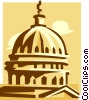 Vector Clip Art image  of a capitol building