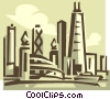 Vector Clipart illustration  of a cityscape