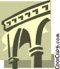 Vector Clip Art image  of a columns