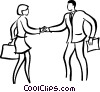 Vector Clipart image  of a man and woman shaking hands