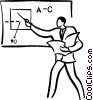 teaching in the classroom Vector Clipart image