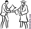 Vector Clipart picture  of a graduation day