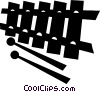 Vector Clipart picture  of a Xylophones