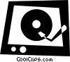 Vector Clip Art image  of a Contemporary Record Players